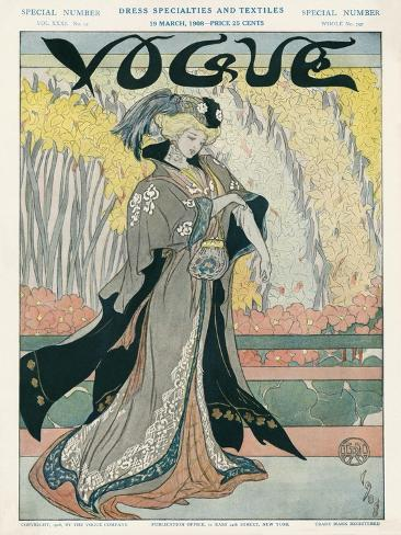 Vogue Cover - March 1908 Stampa giclée premium