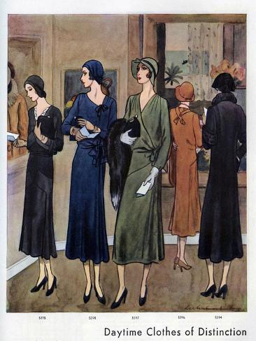 Vogue Pattern Book, Magazine Plate, UK, 1930 Giclee Print
