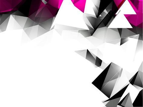 Abstract Triangular Background Art Print