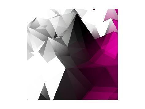 Abstract Triangular Background Art Print