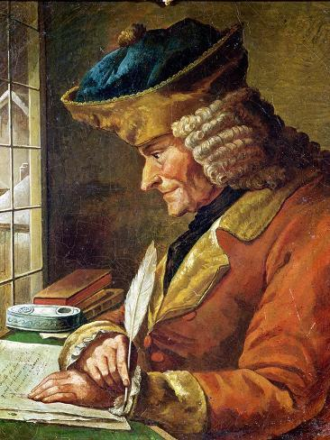 Voltaire (1694-1778) in His Study Giclee Print