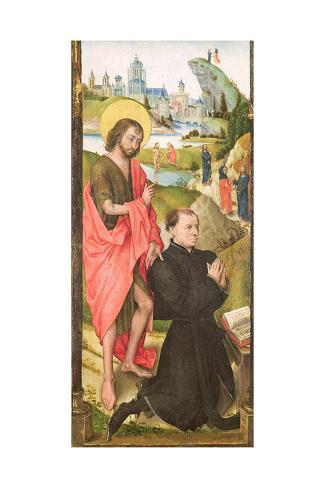 Kneeling Donor with Saint John the Baptist, C.1470 Giclee Print