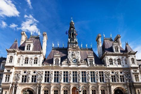 Hotel De Ville (City Hall) in Paris Photographic Print