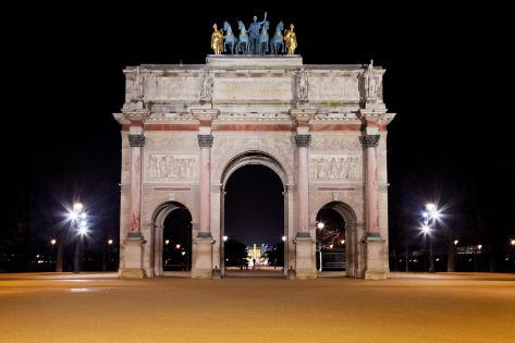 The Arc De Triomphe Du Carrousel in Paris Photographic Print
