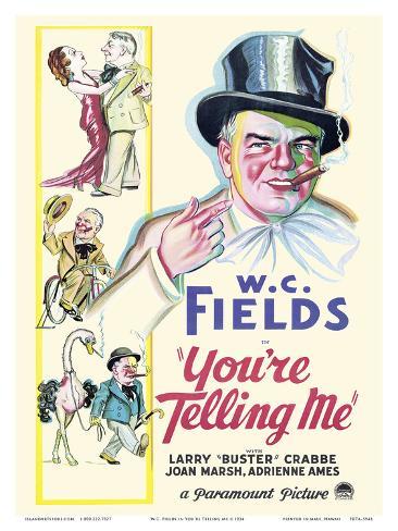 W.C. Fields in You're Telling Me Art Print