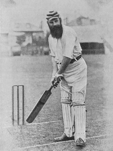 W G Grace Ready to Receive the Ball Photographic Print
