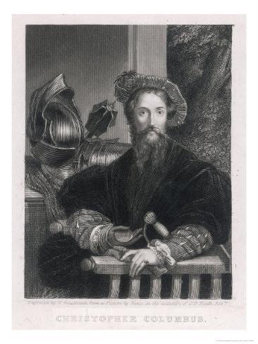 Christopher Columbus Italian Navigator Giclee Print