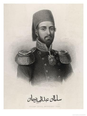 Abdul Mecid 1 (Or Mejid Medschid) Ottoman Sultan Ruled 1839-1861 Giclee Print