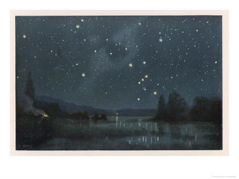 Star-Filled Sky Featuring the Constellation of Orion Giclee Print