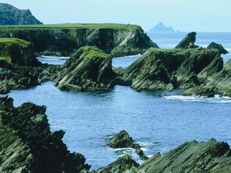 Rocky coast at Slea Head, Dingle, Ireland Photographic Print