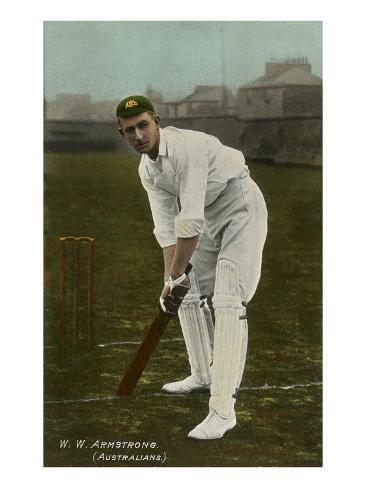 W. W. Armstrong, Cricket Player from Australia Art Print