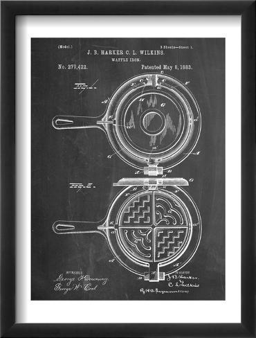 Waffle Iron Patent Framed Art Print