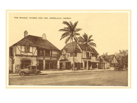 Waikiki Tavern, Honolulu, Hawaii Art Print
