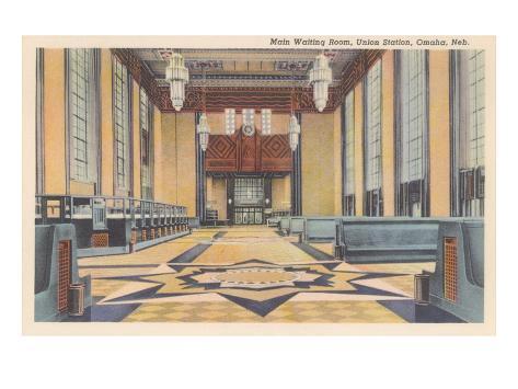 Waiting Room, Union Station, Omaha, Nebraska Art Print