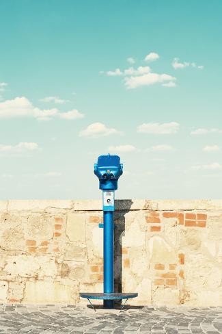 Public Binocular in Budapest Hungary. Photographic Print