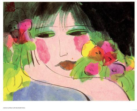 Girl's Face Art Print