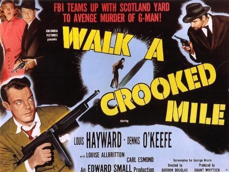 Walk a Crooked Mile, 1948 Art Print