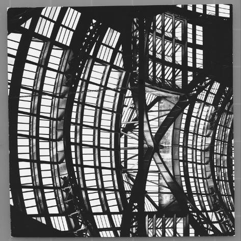 Penn Station's Waiting Room's Glass and Steel Ceiling Photographic Print