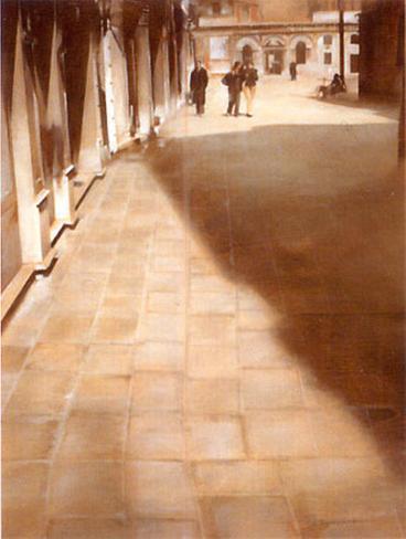 Walking Downtown Art Print