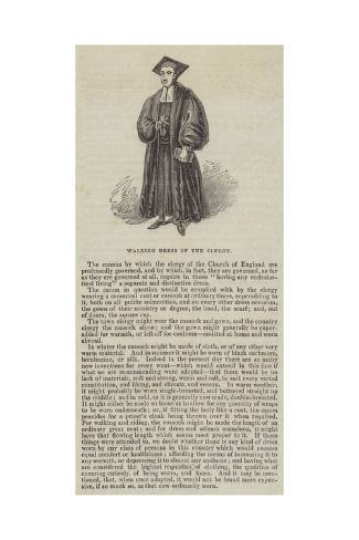 Walking Dress of the Clergy Lámina giclée
