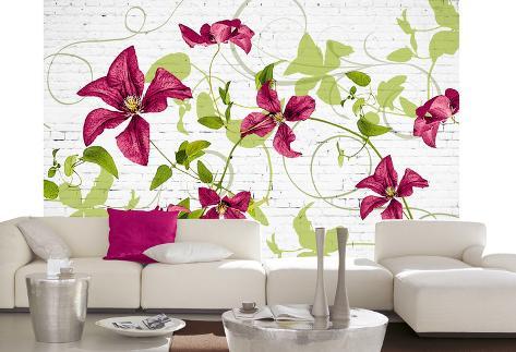 Wall Blossoms Wallpaper Mural