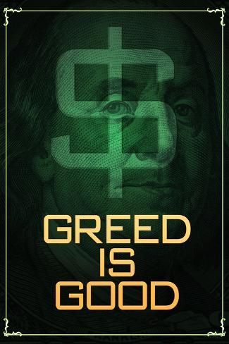 Wall Street Movie Greed is Good Poster Print Poster
