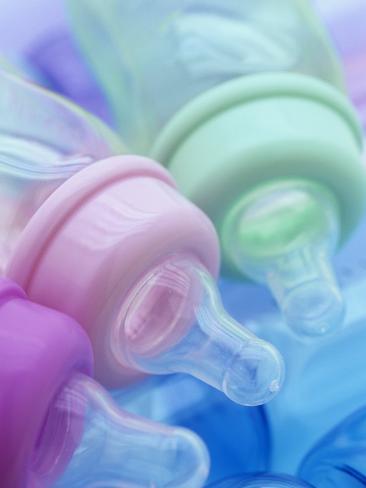 Plastic Baby Bottles, Polycarbonate, Petroleum Product Photographic Print