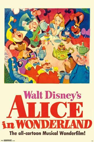 Walt Disney's  Alice In Wonderland - One Sheet Poster