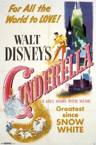 Walt Disney's: Cinderella- One Sheet Poster