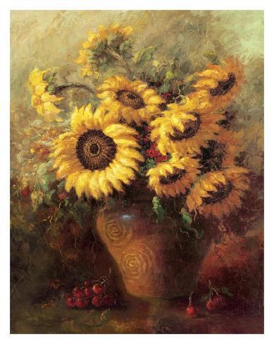 Maria's Sunflowers Art Print