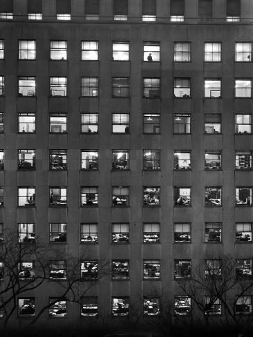 The Pattern of Lighted Office Windows in the RFC Building Fotoprint