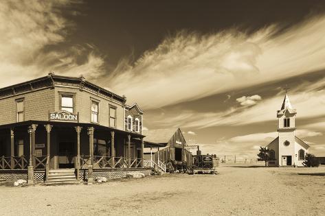 1880 Town, Pioneer Village, Stamford, South Dakota, USA Photographic Print