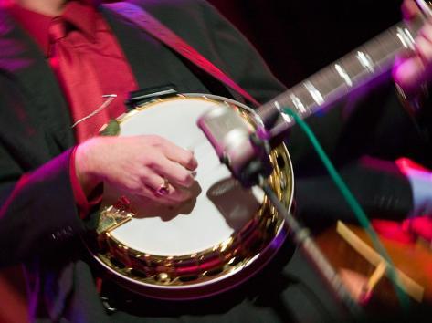 Banjo Player Detail, Grand Ole Opry at Ryman Auditorium, Nashville, Tennessee, USA Valokuvavedos