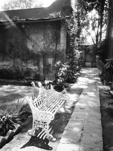 Bench at the Museo Leon Trotsky, Coyoacan, Mexico Photographic Print