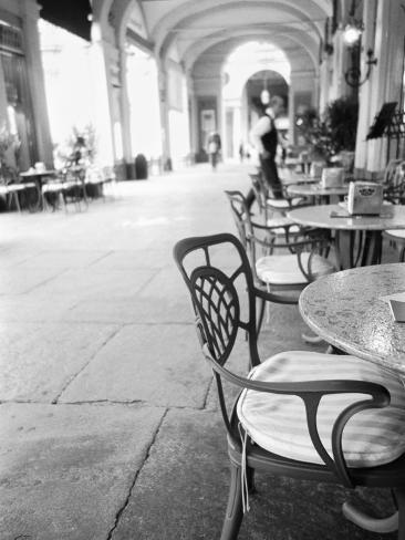 Cafe and Archway, Turin, Italy Photographic Print