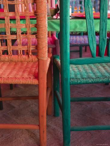 Cafe Detail, Old Mazatlan, Mazatlan, Sinaloa State, Mexico Photographic Print