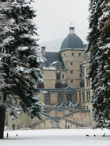 Chateau de Vizille Park after Winter Storm, Vizille, Isere, French Alps, France Photographic Print