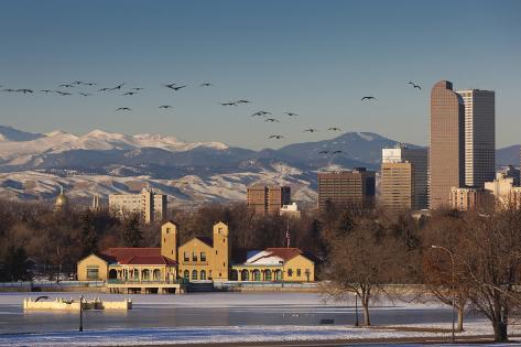 City Skyline from City Park, Denver, Colorado, USA Photographic Print