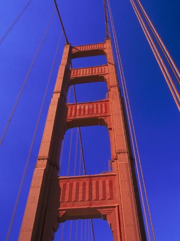 Close-up of Golden Gate Bridge, San Francisco, CA Photographic Print