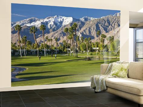 Desert Princess Golf Course and Mountains Palm Springs California