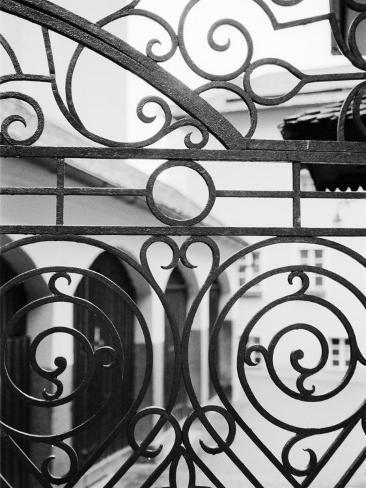 Detail of Metal Gate, Domplatz, Salzburg, Austria Photographic Print