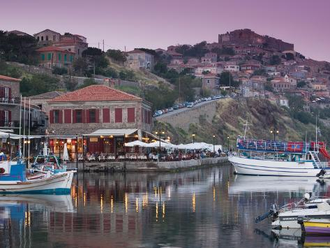 Fishing Port, Lesvos, Mithymna, Northeastern Aegean Islands, Greece Photographic Print