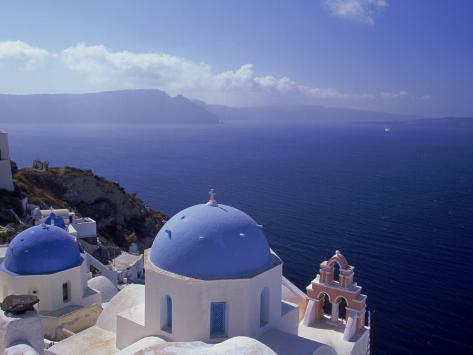Greek Church, Santorini, Greece Photographic Print