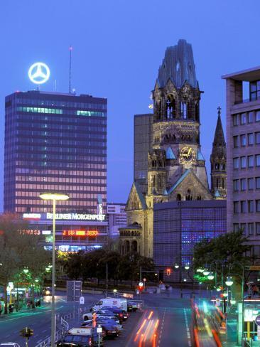 Kaiser Wilhelm Memorial Church, Kurfurstendamm Area, Berlin, Germany Photographic Print