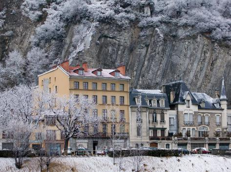 Quai De France Along the Isere River, Grenoble, Isere, French Alps, France Photographic Print