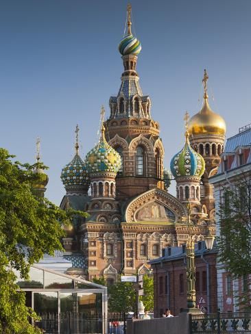 Russia, St. Petersburg, Center, Church of the Saviour of Spilled Blood on Griboedov Canal Photographic Print