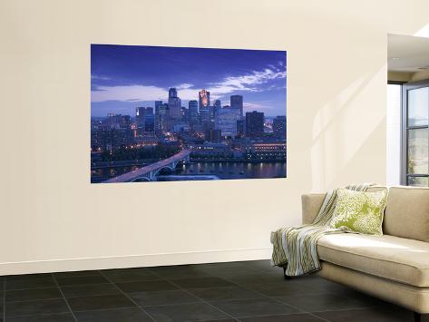 Skyline of Minneapolis, Minnesota, USA Giant Art Print