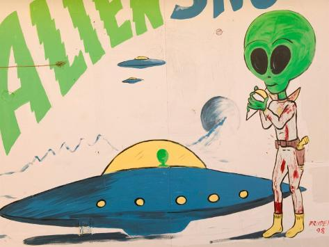 Space Alien Statue, Roswell, New Mexico, USA Photographic Print