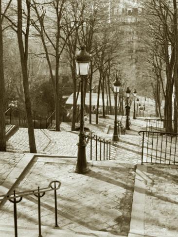 Steps to Montmartre, Paris, France Photographic Print