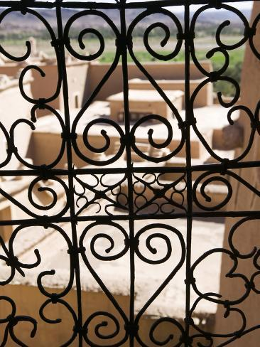 Taourirt Kasbah Viewed Through Lattice Window, Ouarzazate, South of the High Atlas, Morocco Photographic Print